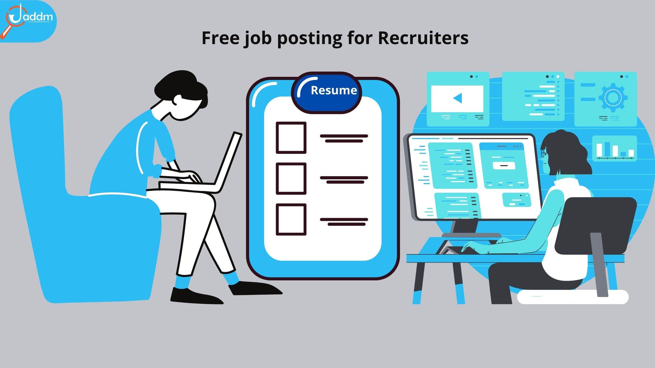 Free job posting for Employers | online job portals