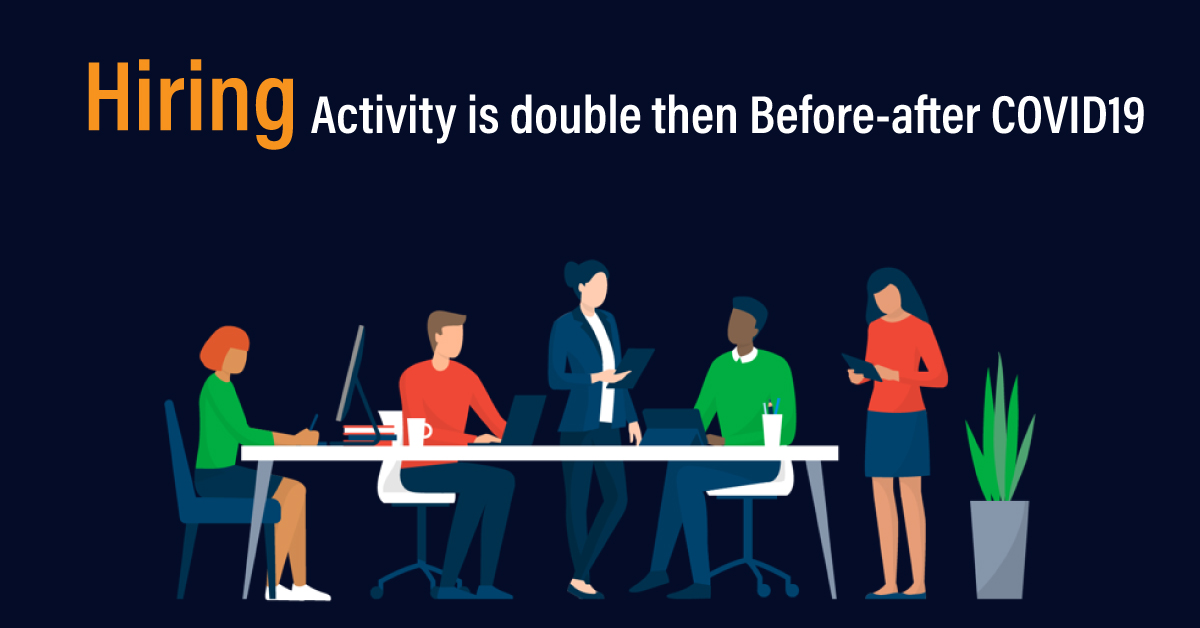 Hiring Activity is double then Before-after COVID19